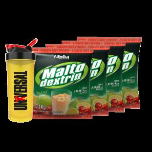 4x Maltodextrin 1kg - Atlhetica + Coqueteleira - Universal