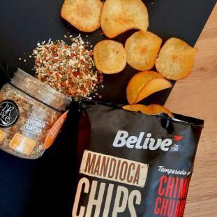 Mandioca Chips Sabor Chimichurri 50g - Belive Be Free