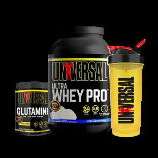 COMBO - Ultra Whey Pro 900g + Glutamina 300g + Coqueteleira - Universal
