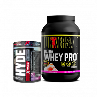 COMBO - Ultra Whey 900g Universal + Hyde Extreme 222g Prosupps