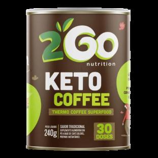 Café Diurético Emagrecedor Keto Coffe 240g 30 Doses - 2GO NUTRITION