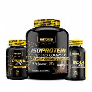 COMBO - Iso Protein Blend Complex 2kg + BCAA 2400 60 Cáps + Thermal 60 Tabs Pretorian