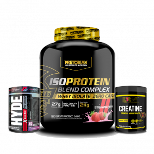 COMBO - Iso Protein 2kg Pretorian + Creatine 300g Universal + Hyde Extreme 222g Prosupps