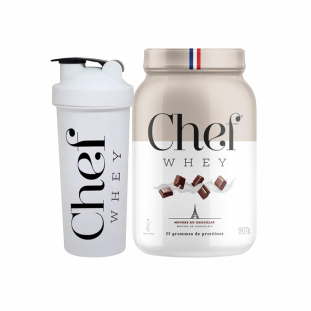 COMBO - Whey Protein Chef Whey 907g + Coqueteleira - Chef Whey