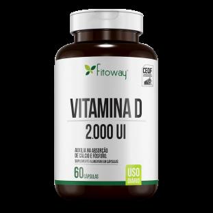 Vitamina D 2000ui 60 Cáps - Fitoway