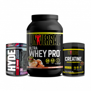 COMBO - Ultra Whey Pro 900g + Creatine 300g Universal + Hyde Extreme 300g Prosupps