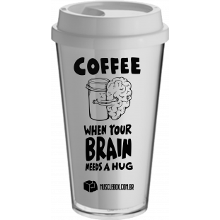 "COPO DE CAFÉ ""When your brain needs a hug"" BUCKS MUSCLEBOX"