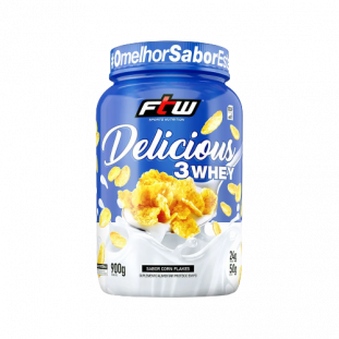 Whey Protein 3 Whey Delicious 900g - FTW