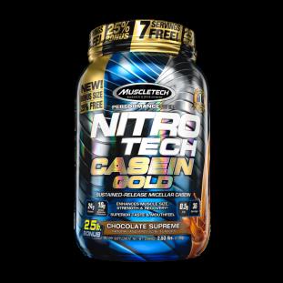 Caseína Nitro Tech Casein Gold 2.53Lbs - Muscletech