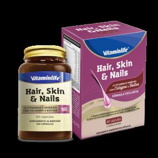 Hair Skin & Nails (Colágeno + Biotina) 60 Cáps - Vitaminlife