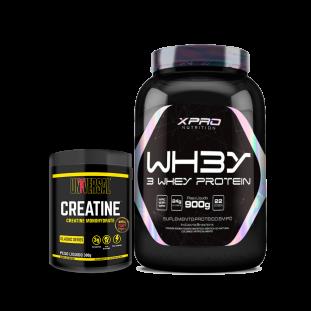 COMBO - Whey 3W 900g + Creatine 300g - Universal